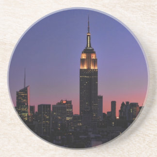 Dawn: Empire State Building still lit up Pink 03 Coaster