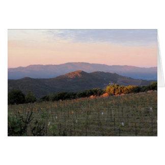 Dawn from Atlas Peak, Napa Valley, 1 Card