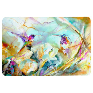 """Dawn Greeting"" Hummingbird Print Floor Mat"