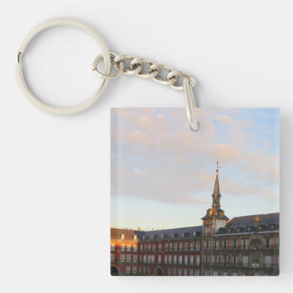 Dawn in Madrid Double-Sided Square Acrylic Keychain