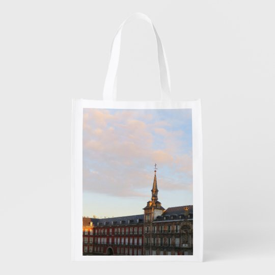 Dawn in Madrid Grocery Bag