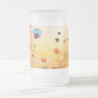 Dawn in Spring. Frosted Glass Beer Mug
