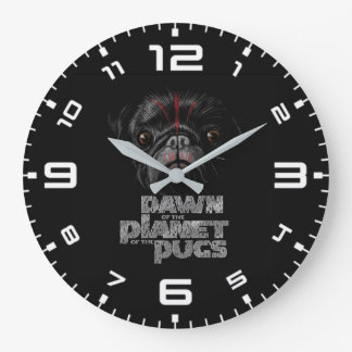 Dawn Of The Planet Of The Pugs Wall Clock