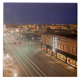 Dawn on Main Street of Bismarck, North Dakota Tiles