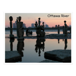Dawn on the Ottawa River. Postcard