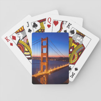 Dawn over San Francisco and Golden Gate Bridge. Poker Deck