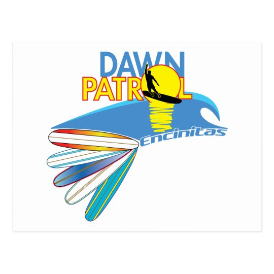 Dawn Patrol Encinitas Postcard