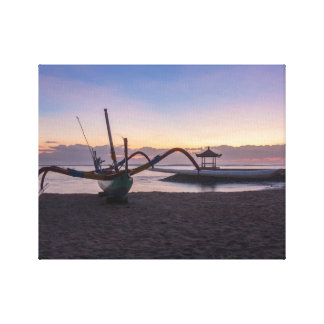 Dawn, Sanur, Bali, Indonesia Canvas Print