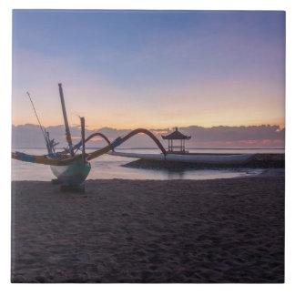 Dawn, Sanur, Bali, Indonesia Tile