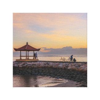 Dawn, Sanur beach, Bali, Indonesia Canvas Print