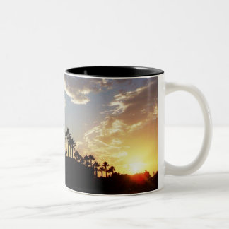 Dawn Sunrise Palm Trees Beach Mug