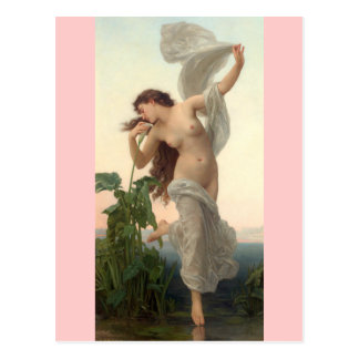 Dawn - Vintage Art - Bouguereau Postcard