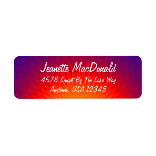 Dawn's Early Light Personalize Return Address Label