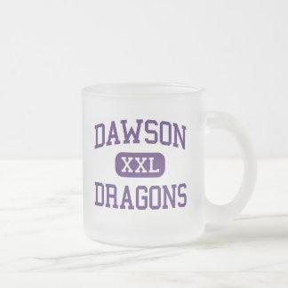 Dawson - Dragons - High School - Welch Texas Frosted Glass Mug