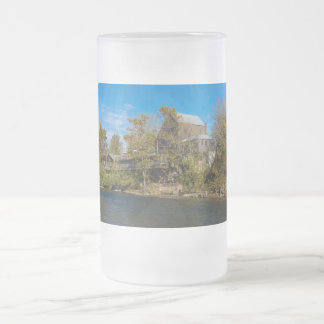 Dawt Mill Frosted Glass Beer Mug