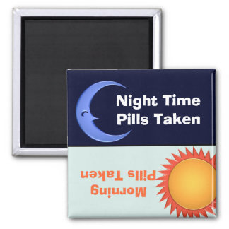 Day and Night Medication Reminder Magnet