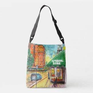Day and Night water color Crossbody Bag