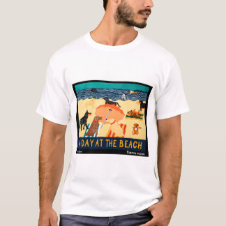 Day at the Beach - Stephen Huneck T-Shirt