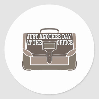 Day at the Office Round Stickers