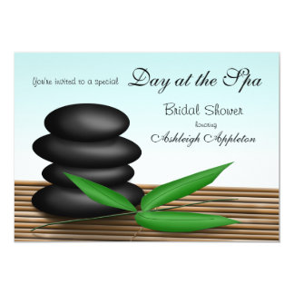 """""""Day at the Spa"""" Bridal Shower Invitations"""