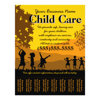 Day Care Child Care Babysitting Tear Sheet Full Color Flyer