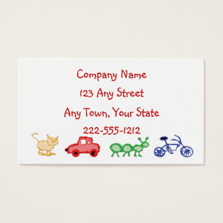 Day care or Childcare Worker  Centre Business Card