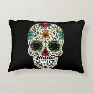 Day Dead Sugar Skull Accent Pillow
