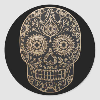 Day Dead Sugar Skull Classic Round Sticker