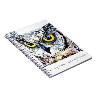 Day Dreamer, Night Thinker Owl Notebooks