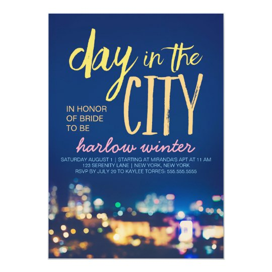 Day in the City Bachelorette Party Card