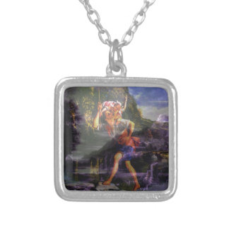 Day Into Night with Dad Silver Plated Necklace