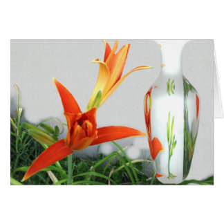 Day Lily and Vase Card