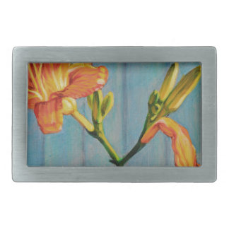 Day Lily Cycle Rectangular Belt Buckle