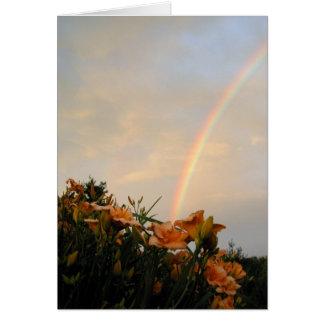 Day Lily Rainbow Card