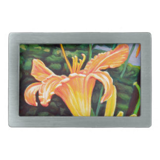 Day Lily Rectangular Belt Buckles