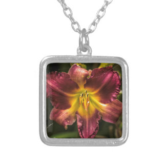 Day Lily Silver Plated Necklace