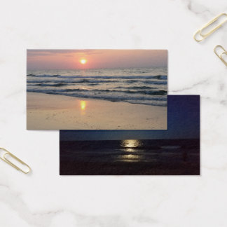 day & night at the beach business card