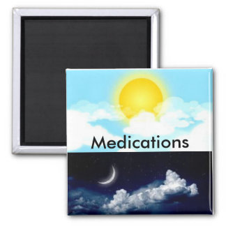 Day/Night Medications Magnet