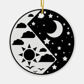 Day & Night Yin Yang Ceramic Ornament
