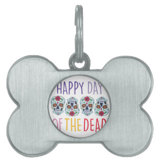 Day Of Dead Pet Tags
