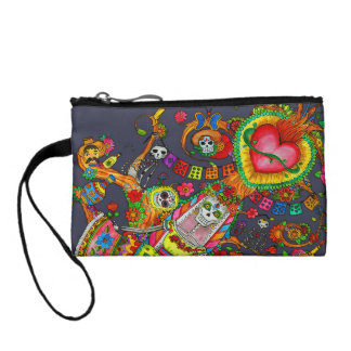 Day of Dead Tree Tattoo Purse Coin Purses