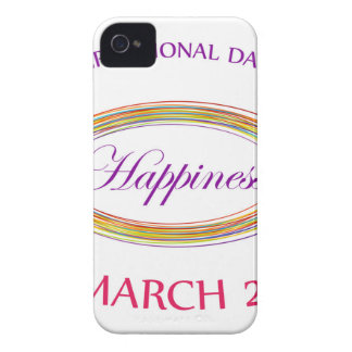 Day of Happiness- Commemorative Day March 20 Case-Mate iPhone 4 Cases