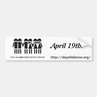 Day Of Silence Bumper Sticker