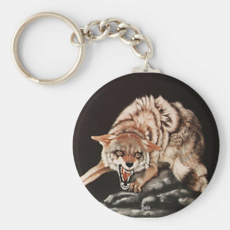 Day Of The Coyote, painting by DiDi Keychain