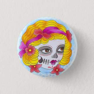 day of the dead 1 inch round button