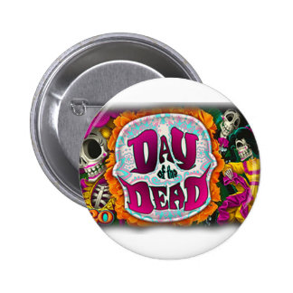 Day of the Dead 2 Inch Round Button