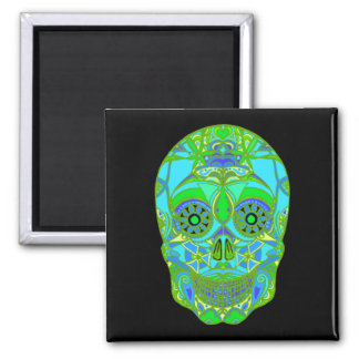 Day of the Dead 3 Square Magnet