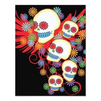 "Day Of The Dead 4.25"" x 5.5"" Invitation"