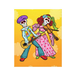 Day of the Dead Band Canvas Print