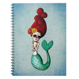 Day of The Dead Beautiful Mermaid Notebook